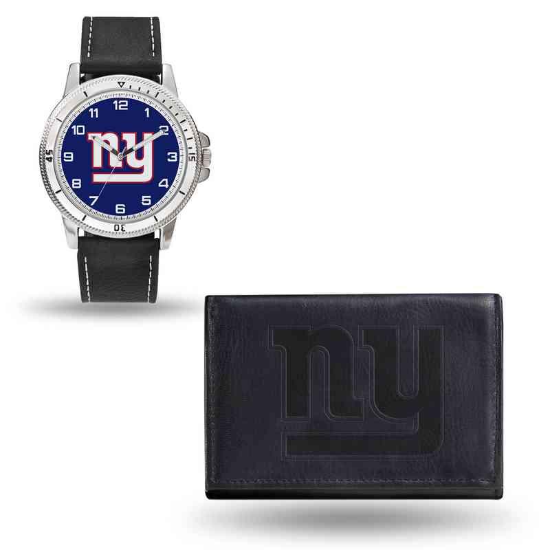 GC4834: Men's NFL Watch/Wallet Set - New York Giants - Black