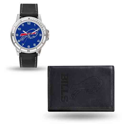GC4817: Men's NFL Watch/Wallet Set - Buffalo Bills - Black