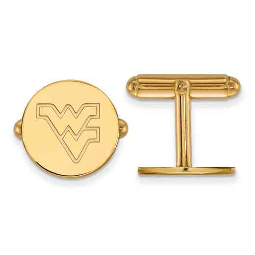 GP012WVU: LogoArt NCAA Cufflinks - West Virginia - Yellow