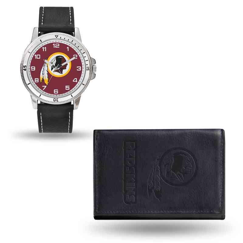 GC4845: Men's NFL Watch/Wallet Set - Washington Redskins - Black