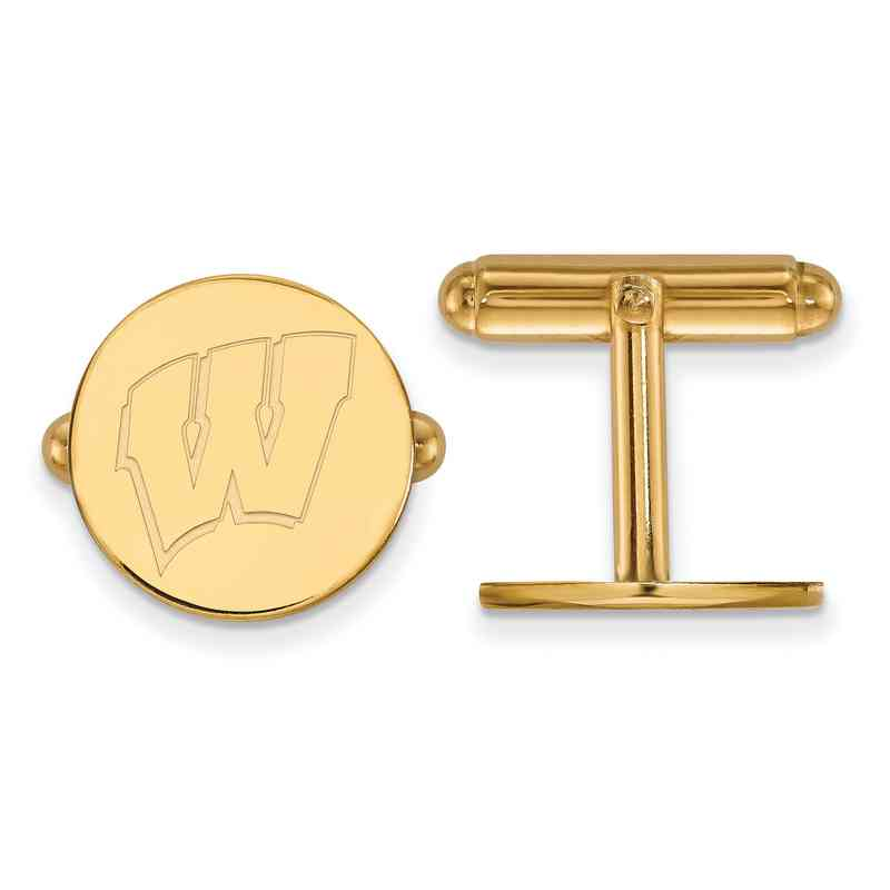 GP012UWI: LogoArt NCAA Cufflinks - Wisconsin - Yellow