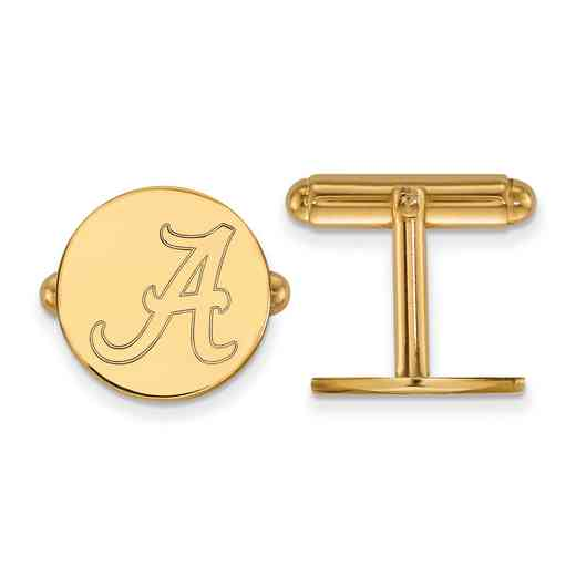GP012UAL: LogoArt NCAA Cufflinks - Alabama - Yellow