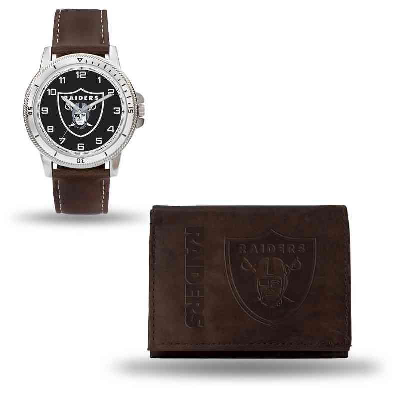 GC4868: Men's NFL Watch/Wallet Set - Oakland Raiders - Brown