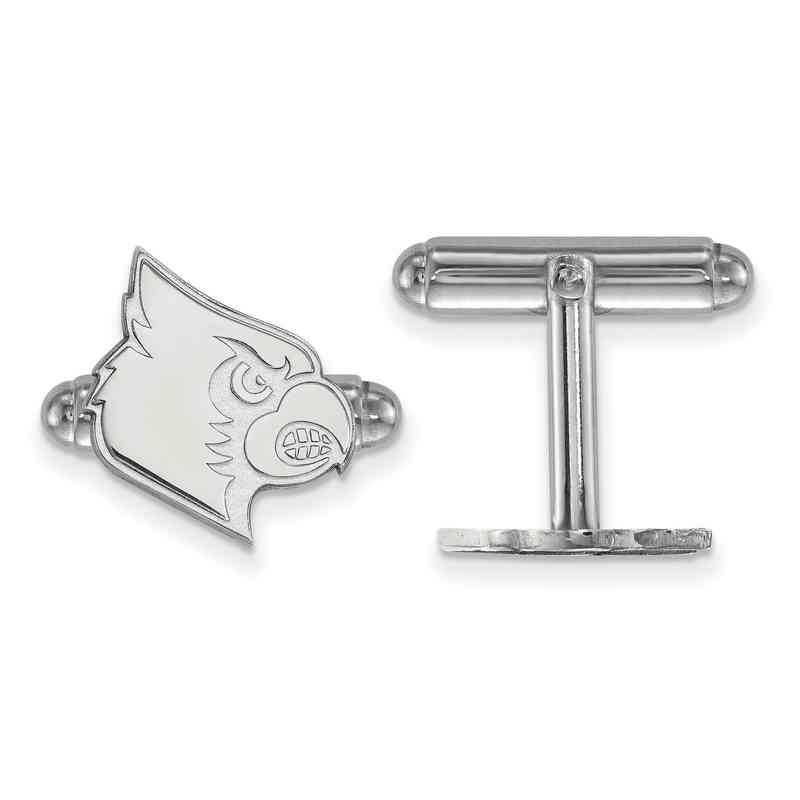 SS048UL: LogoArt NCAA Cufflinks - Louisville - White