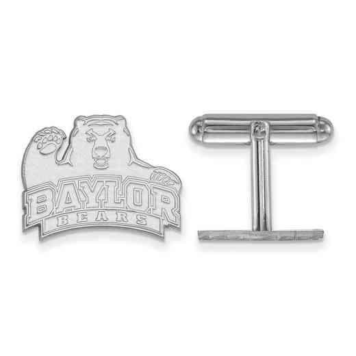 SS011BU: LogoArt NCAA Cufflinks - Baylor - White