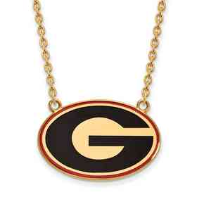 GP083UGA-18: LogoArt NCAA Enamel Pendant - Georgia - Yellow