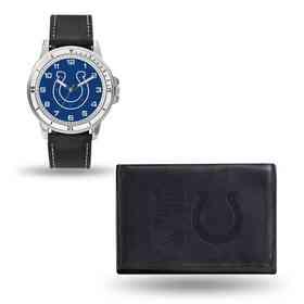 GC4827: Men's NFL Watch/Wallet Set - Indianapolis Colts - Black