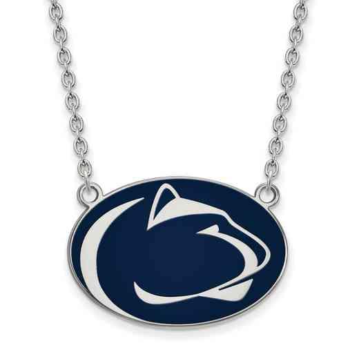 SS019PSU-18: LogoArt NCAA Enamel Pendant - Penn State - White
