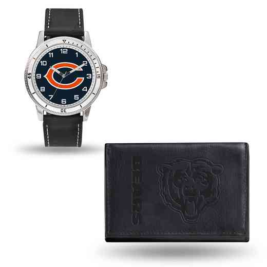 GC4819: Men's NFL Watch/Wallet Set - Chicago Bears - Black