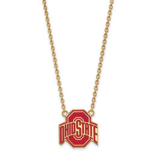 GP087OSU-18: LogoArt NCAA Enamel Pendant - Ohio State - Yellow