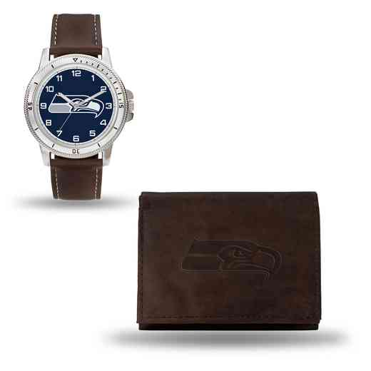 GC4872: Men's NFL Watch/Wallet Set - Seattle Seahawks - Brown