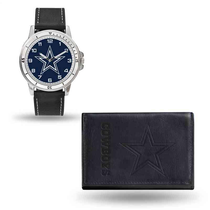GC4822: Men's NFL Watch/Wallet Set - Dallas Cowboys - Black