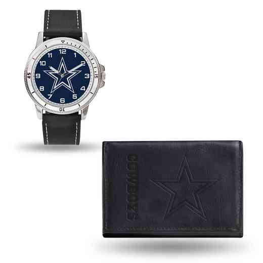 GC4822: Men's NFL Watch/Wallet Set - Dallas Cowboys - Black