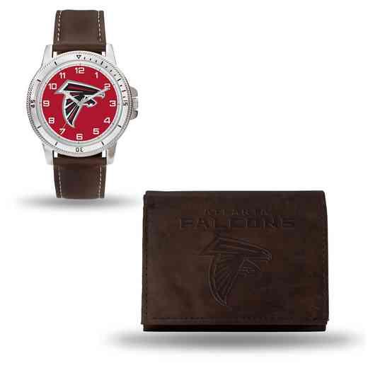 GC4847: Men's NFL Watch/Wallet Set - Atlanta Falcons - Brown