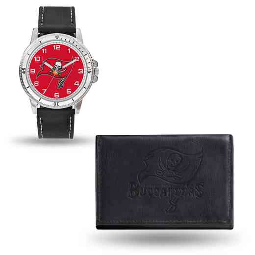 GC4843: Men's NFL Watch/Wallet Set - Tampa Bay Buccaneers - Black