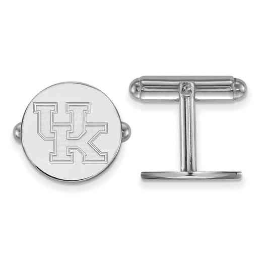 SS012UK: LogoArt NCAA Cufflinks - Kentucky - White