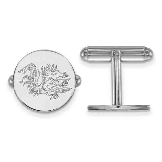 SS052USO: LogoArt NCAA Cufflinks - South Carolina - White