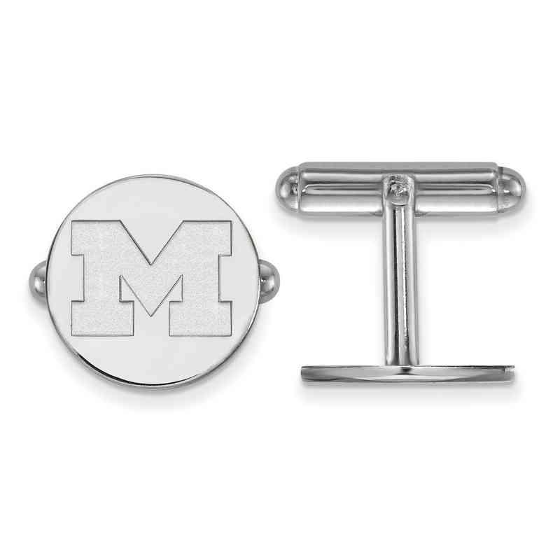 SS011UM: LogoArt NCAA Cufflinks - Michigan - White
