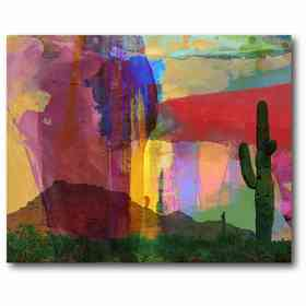 WEB-AC251: Cactus Mesa Abstract Canvas 16x20