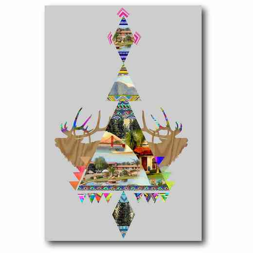 WEB-G237: Stag Chandelier Canvas 12x18