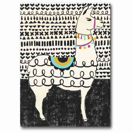 WEB-JV504: Party Llama Right Canvas 11x14