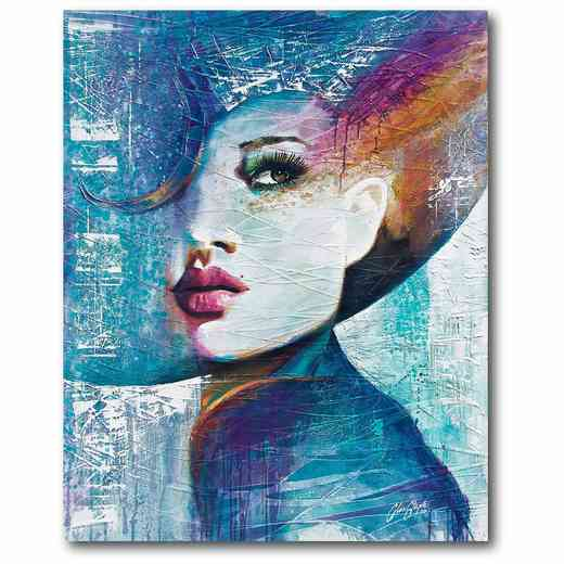 WEB-MV187: Girl in Blue Canvas 16x20