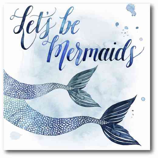 WEB-NI265: Let Be Mermaids Canvas 16x16