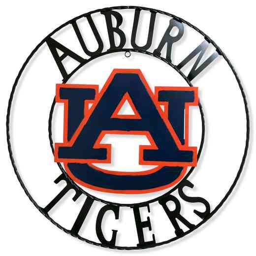 "AUB1WRI18:  Auburn  18""  Round Metal Art"