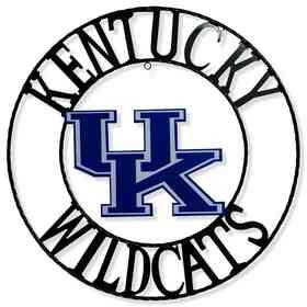"""UKWRI18: Kentucky 18""""  Round Metal Art"""