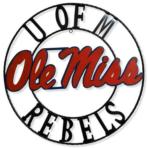 "MSWRI18: Ole Miss  18""  Round Metal Art"