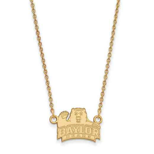 GP013BU-18: YGFP LogoArt Baylor Small Neck - Yellow