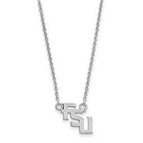 SS066FSU-18: LogoArt Florida State Small Neck - White