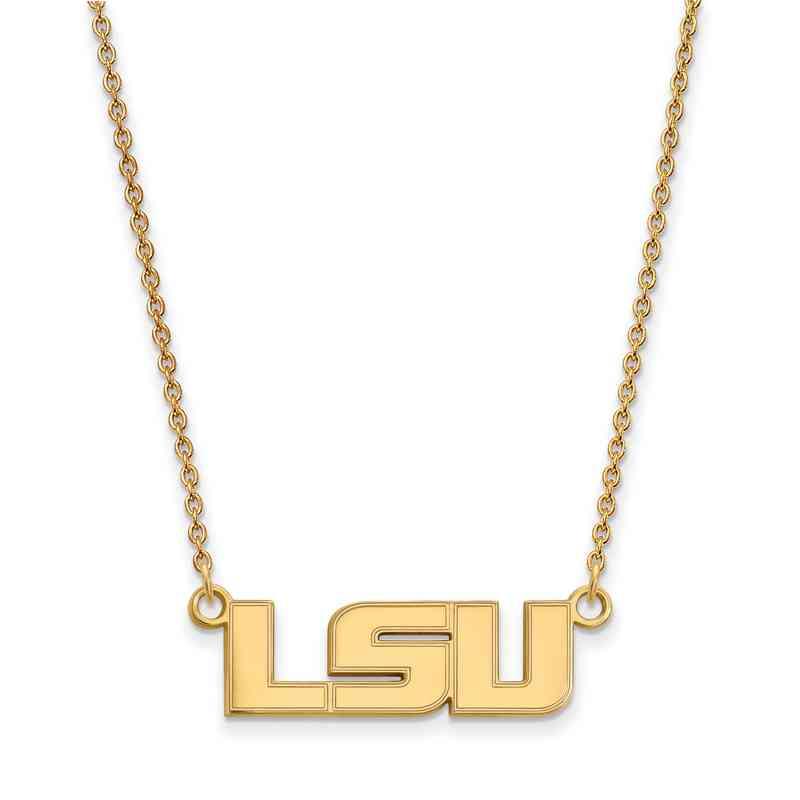 GP009LSU-18: YGFP LogoArt Louisiana State Small Neck - Yellow
