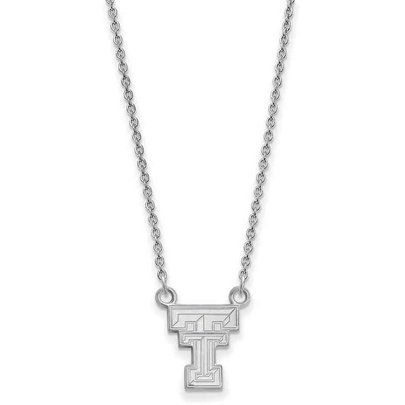 SS015TXT-18: LogoArt Texas Tech Small Neck - White