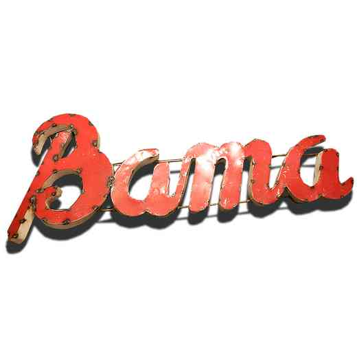 BAMAWD: Alabama Bama Metal Decor