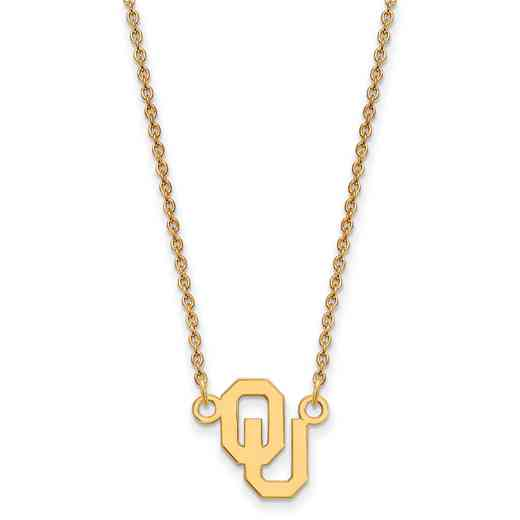 GP015UOK-18: SS YGFP LogoArt Oklahoma Small Neck - Yellow