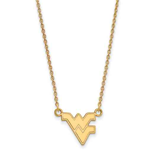 GP015WVU-18: SS YGFP LogoArt West Virginia Small Neck - Yellow