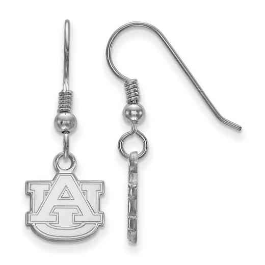 SS006AU: SS LogoArt Auburn XS Dangle Earrings - White