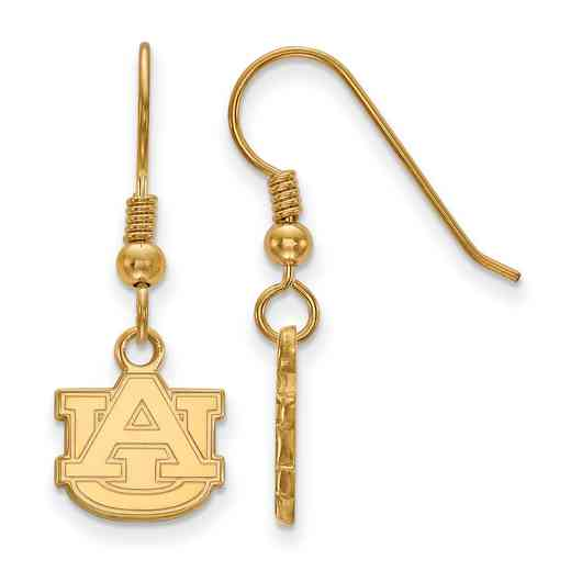 GP006AU: SS YGFP LogoArt Auburn XS Dangle Earrings - Yellow