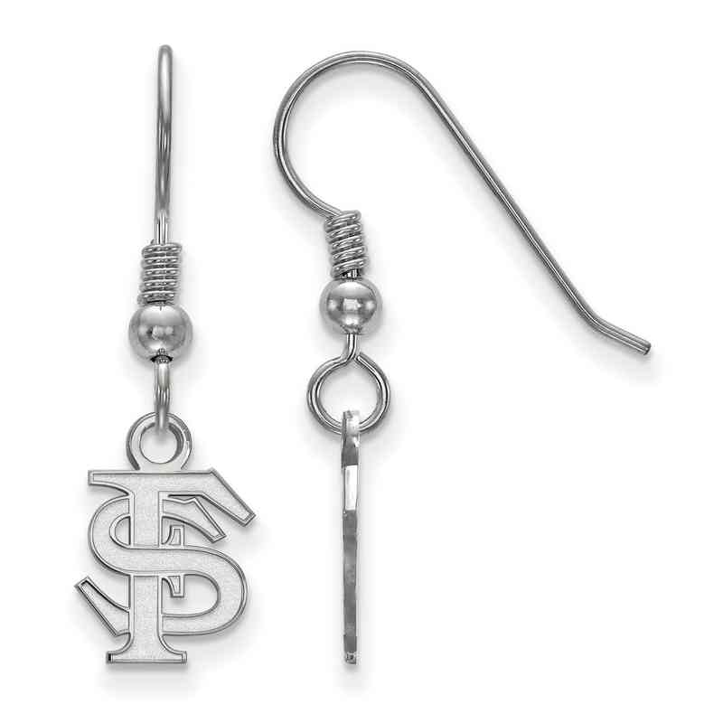 SS006FSU: SS LogoArt FL State XS Dangle Earrings - White