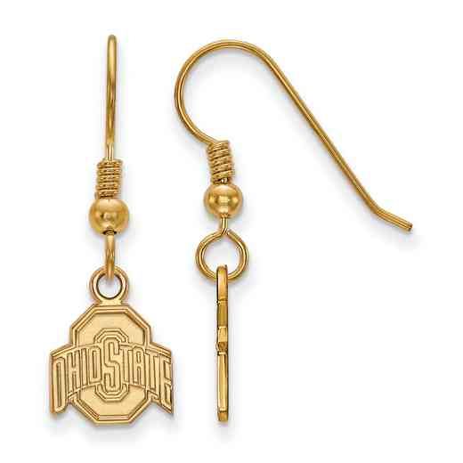 GP006OSU: SS YGFP LogoArt Ohio St XS Dangle Earrings - Yellow