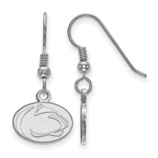 SS002PSU: SS LogoArt Penn St XS Dangle Earrings - White