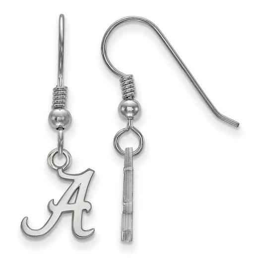 SS006UAL: SS LogoArt Alabama XS Dangle Earrings - White