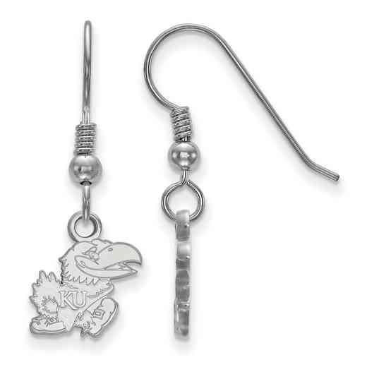 SS069UKS: SS LogoArt Kansas XS Dangle Earrings - White