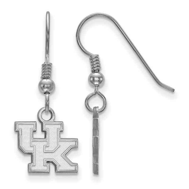 SS006UK: SS LogoArt Kentucky XS Dangle Earrings - White