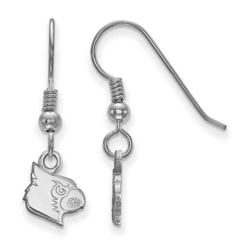 SS043UL: SS LogoArt Louisville XS Dangle Earrings - White