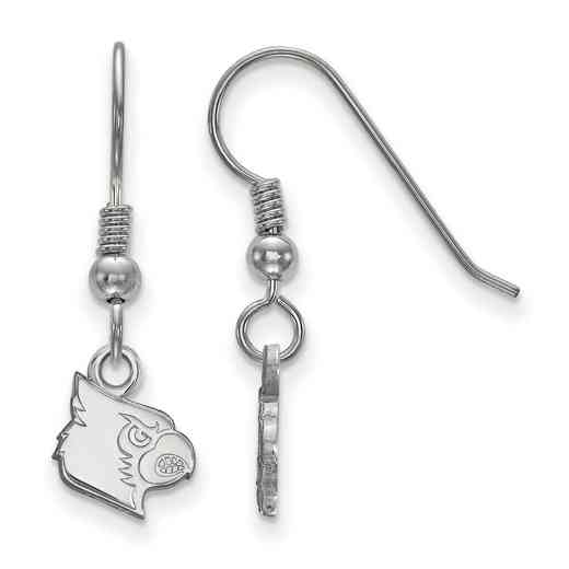 SS043UL: SS LogoArt Louisville XS Dangle Earrings - White