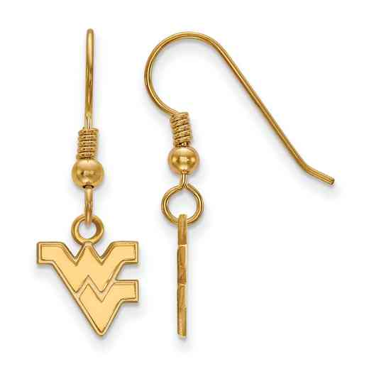 GP006WVU: SS YGFP LogoArt W Virginia XS Dangle Earrings - Yellow