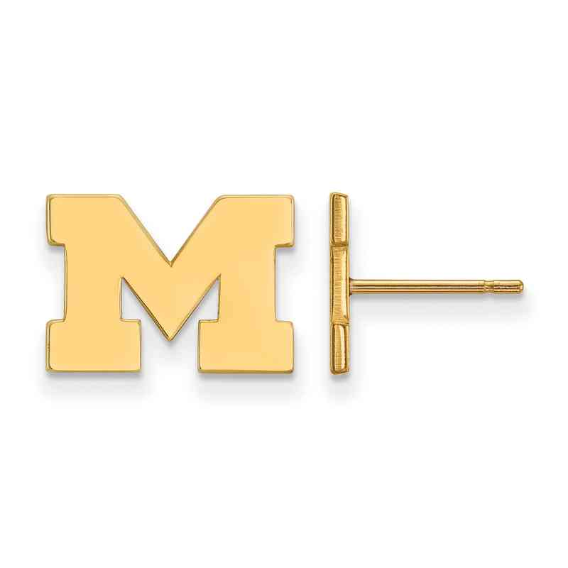 GP008UM: 925 YGFP Michigan XS Post Earrings