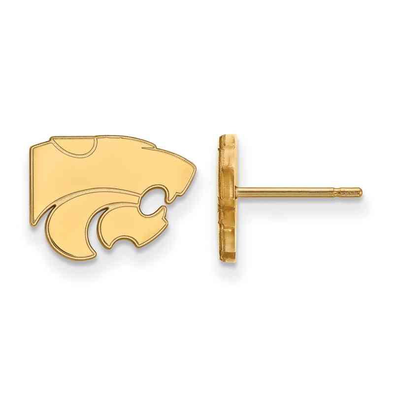 GP008KSU: 925 YGFP Kansas State XS Post Earrings